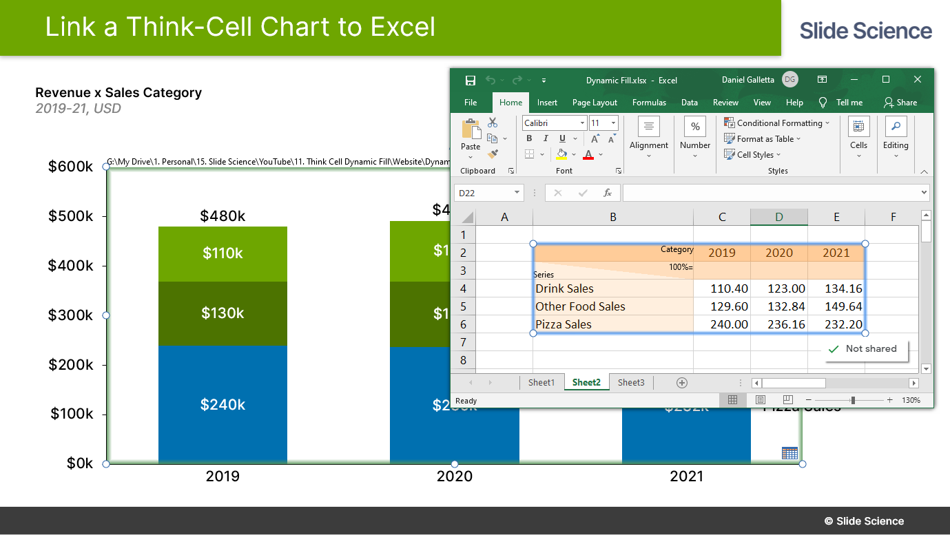 Think Cell Excel Link Tutorial